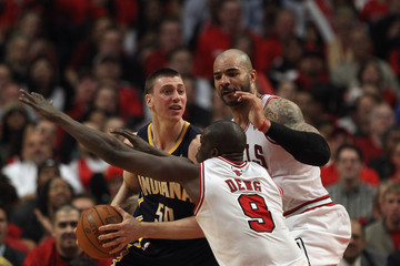 Carlos Boozer Loul Deng Indiana Pacers v Chicago Bulls - Game Two