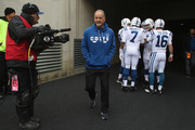 Head Coach Chuck Pagano of the Indianapolis Colts takes the field for the game against the Cincinnati Bengals at Paul Brown Stadium on October 29, 2017 in Cincinnati, Ohio.