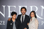 Irrfan Khan and his family walk the red carpet at 'Inferno' premiere at Opera Di Firenze on October 8, 2016 in Florence, Italy.