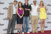 "(From L to R) Actor Christoph Waltz, actress Melanie Laurent, director Quentin Tarantino, actor Brad Pitt and actress Diane Kruger attend the photocall for ""Inglourious Basterds"" at the Adlon Hotel on July 28, 2009 in Berlin, Germany."