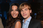 Actors Nadine Velazquez and Graham Patrick Martin attend TNT's 25th Anniversary Party at The Beverly Hilton Hotel on July 24, 2013 in Beverly Hills, California.