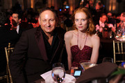 MAC CEO John Demsey (L) and model Jessica Joffe attend the amfAR Inspiration Gala New York 2014 at The Plaza Hotel on June 10, 2014 in New York City.