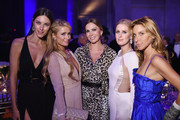 (L-R) Nadejda Savcova, Paris Hilton, Inga Rubenstein, Nicky Hilton, and Dori Cooperman attend Angel Ball 2014 hosted by Gabrielle's Angel Foundation at Cipriani Wall Street on October 20, 2014 in New York City.