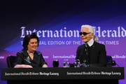 Karl Lagerfeld Suzy Menkes Photos Photo