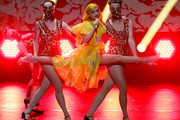 Australian rapper Iggy Azalea performs during the International Music Award (IMA) 2019 in Berlin, Germany, 22 November 2019. The IMA recognizes the efforts of artists to share their work with a statement independently of the commercial success.