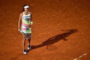 Ana Ivanovic of Serbia celebrates a point in her match against Anastasia Pavlychenkova of Russia on Day Two of The Internazionali BNL d'Italia 2016 on May 09, 2016 in Rome, Italy.