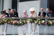 Prince Philip, Duke of Edinburgh; Queen Elizabeth II, Princess Michael of Kent and Prince Michael of Kent attend Derby day at the Investec Derby Festival at Epsom Racecourse on June 7, 2014 in Epsom, England.