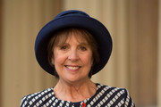 Actress Dame Penelope Wilton after she received her honour from the Duke of Cambridge at Buckingham Palace on November 11, 2016 in London, England.