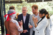 Scott Morrison, Prince Harry, Duke of SussexÊandÊMeghan, Duchess of Sussex during day two of the Invictus Games Sydney 2018 at Sydney Olympic Park on October 21, 2018 in Sydney, Australia.