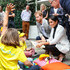 Prince Harry Scott Morrison Photos - Scott Morrison, Prince Harry, Duke of SussexÊandÊMeghan, Duchess of Sussex talking with young kids during day two of the Invictus Games Sydney 2018 at Sydney Olympic Park on October 21, 2018 in Sydney, Australia. - Invictus Games Sydney 2018 - Day 2