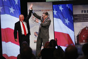 Representative Steve King (R-IA) and former Texas Governor Rick Perry (R) attend the Iowa Freedom Summit on January 24, 2015 in Des Moines, Iowa. The summit is hosting a group of potential 2016 Republican presidential candidates to discuss core conservative principles ahead of the January 2016 Iowa Caucuses.