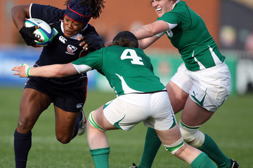 Fiona Coghlan Ireland v USA-5th Place SF-IRB Womens Rugby World Cup