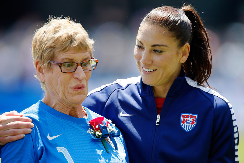 Photo of Hope Solo & her Mother  Judy Solo