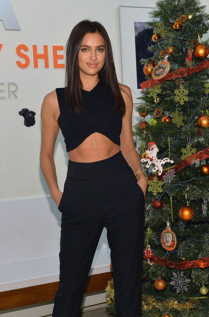 Supermodel Irina Shayk visits ASPCA Adoption Center on December 10, 2013 in New York City.