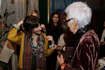 Iris Apfel Iris Apfel Hosts Dinner Previewing Her HSN Collection at The Polo Bar