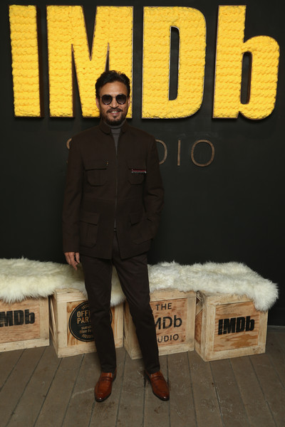 The IMDb Studio At The 2018 Sundance Film Festival - Day 4 [the imdb show,standing,font,furniture,irrfan khan of puzzle,location,utah,park city,imdb studio,sundance film festival]