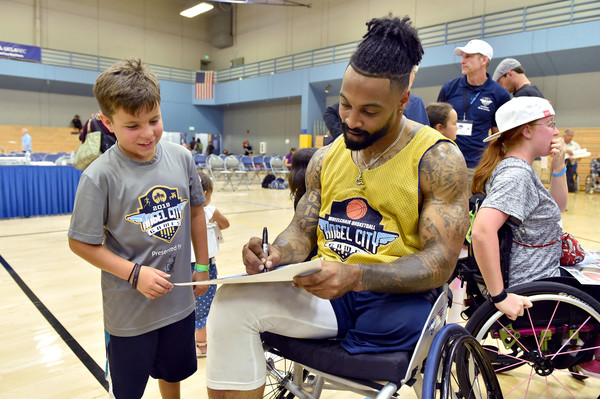 2019 Angel City Games Celebrity Wheelchair Basketball Game, Presented By The Hartford [wheelchair,disabled sports,wheelchair sports,basketball,sports,team sport,team,competition event,championship,games,los angeles,california,angel city games celebrity wheelchair basketball game,the hartford,isaiah pead,r]
