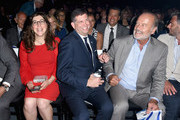 (L-R) Mayim Bialik, Consul General of Israel, Los Angeles Sam Grundwerg, Secretary of State of California Alex Padilla and Kelsey Grammer attend the 70th Anniversary of Israel celebration in Los Angeles on Sunday, June 10, 2018.