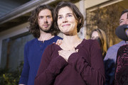 Amanda Knox speaks to the media during a brief press conference in front of her parents' home March 27, 2015 in Seattle, Washington. Knox and Raffaele Sollecito have been acquitted by Italy's highest court in the murder of British student Meredith Kercher, who was killed in her bedroom on November 1, 2007 in Perugia.
