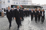 Italy and Italy Women players and coaches arrives to Quirinale on October 15, 2018 in Rome, Italy.