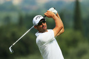 Alvaro Quiros of Spain plays his second shot on the 11th hole during day one of the Italian Open at Gardagolf CC on May 31, 2018 in Brescia, Italy.