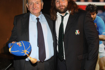 Giancarlo Dondi Italy Rugby Team Capping Ceremony
