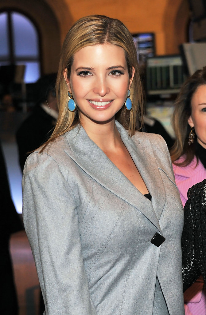 Ivanka Trump Photos Photos Ivanka Trump Rings The New York Stock
