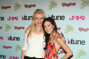 J-14 editor in chief Molly MacDermot and singer/songwriter Tiffany Giardina attend J-14 Magazine's In-Tune Concert at Hard Rock Cafe - Times Square on July 20, 2009 in New York City.