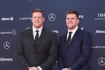 J.J. Watt Red Carpet - 2018 Laureus World Sports Awards - Monaco