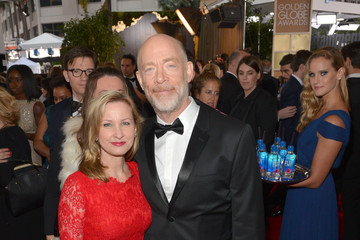 J.K. Simmons Michelle Schumacher FIJI Water at the 73rd Annual Golden Globe Awards
