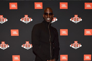 Tonight?s Quincy Jones private event officially kicked off JBL Fest, an exclusive, three-day music experience hosted by JBL in Vegas. Kevin Garnett was in attendance to celebrate Quincy?s lifetime achievements and his headphone partnership with JBL. The event was held at the Heart of OMNIA on October 17, 2018 inside Caesars Palace in Las Vegas, Nevada.
