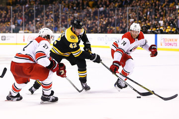 Jaccob Slavin Carolina Hurricanes vs. Boston Bruins
