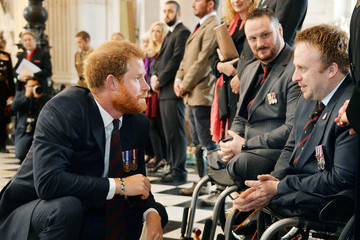 Jack Cummings Prince Harry Marks The 75th Anniversary Of Explosive Ordnance Disposal (EOD) Across The British Armed Forces