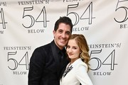 (L-R) Concert director Will Nunziata and singer Jackie Evancho pose for photos at 54 Below on April 23, 2019 in New York City.