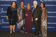(L-R)  Sonya Pankey, Meta Robinson, Rachel Robinson, Marty Edelman, and Susan Thomas attends the Jackie Robinson Foundation 2018 Annual Awards Dinner at the Marriott Marquis Times Square on March 5, 2018 in New York City.