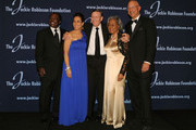 """Presenter Joe Morgan, President and Chief Executive Officer Della Britton Baeza, MLB  Commissioner Allan H. """"Bud"""" Selig, Founder Rachel Robinson and Chariman Leonard S. Coleman, Jr. attend the Jackie Robinson Foundation Annual Awards Dinner at the The Waldorf Astoria on March 8, 2010 in New York City."""