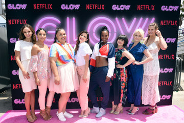 Jackie Tohn Britney Young Netflix Original Series 'GLOW' '80s Takeover Of Muscle Beach