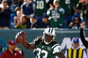Chris Ivory #33 of the New York Jets spikes the ball after scoring a first quarter touchdown against the Jacksonville Jaguars at MetLife Stadium on November 8, 2015 in East Rutherford, New Jersey.