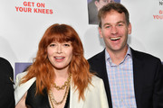 Natasha Lyonne (L) and Mike Birbiglia attend the opening night of 'Jacqueline Novak: Get on Your Knees' at Cherry Lane Theatre on July 22, 2019 in New York City.