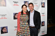 """Jen Stein (L) and Mike Birbiglia attend the opening night of """"Jacqueline Novak: Get on Your Knees"""" at Cherry Lane Theatre on July 22, 2019 in New York City."""