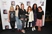 (L-R) Amy Poehler, Abbi Jacobson, Jacqueline Novak, Natasha Lyonne, Phoebe Robinson, and Rachel Dratch attend the opening night of 'Jacqueline Novak: Get on Your Knees' at Cherry Lane Theatre on July 22, 2019 in New York City.