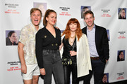 (L-R) John Early, Jacqueline Novak, Natasha Lyonne, and Mike Birbiglia attend the opening night of 'Jacqueline Novak: Get on Your Knees' at Cherry Lane Theatre on July 22, 2019 in New York City.