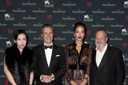 (L-R) Kit Chan, Jaeger-LeCoultre Ceo Daniel Riedo, Carmen Chaplin and director Terry Gilliam attend the Jaeger-LeCoultre gala event celebrating 10 years of partnership with La Mostra Internazionale d'Arte Cinematografica di Venezia at the Excelsior Hotel on September 7, 2015 in Venice, Italy.