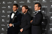 (L-R) Milosh Bikovich, Daniel Bruhl and Henry Cavill arrive for the Jaeger-LeCoultre Gala Dinner during the 75th Venice International Film Festival at Arsenale on September 4, 2018 in Venice, Italy.