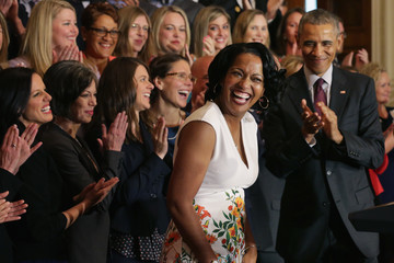 Jahana Hayes President Obama Honors the 2016 National Teacher of the Year Finalists at the White House