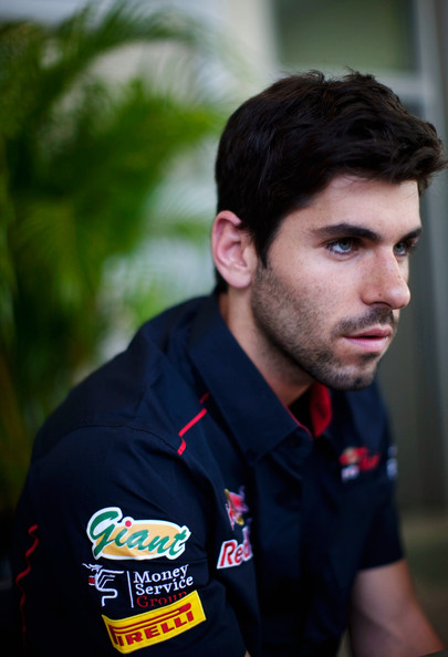 Jaime Alguersuari Jaime Alguersuari of Spain and Scuderia Toro Rosso is seen during previews to the Malaysian Formula One Grand Prix at the Sepang Circuit on April 7, 2011 in Kuala Lumpur, Malaysia.