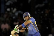 Shoaib Malik of Barbados Tridents ready to hit a 4 against Jamaica Tallawahs during the Second Semi Final of the Caribbean Premier League between Barbados Tridents v Jamaica Tallawahs at Queens Park Oval on August 23, 2013 in Port of Spain, Trinidad and Tobago.