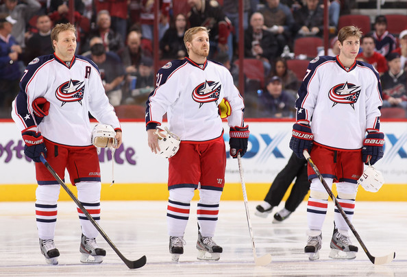 James Wisniewski and Jack Johnson Photos Photos - Columbus Blue ...