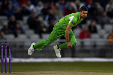 James Anderson Lancashire v Leicestershire - Royal London One-Day Cup