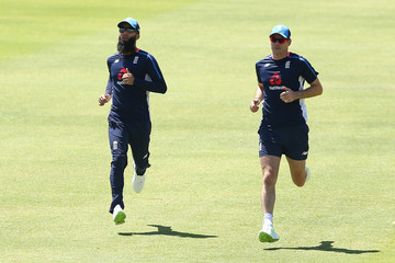 James Anderson Moeen Ali England Media Opportunity & Training Session